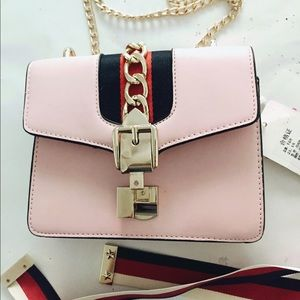 Handbags - Pink purse with crossover strap